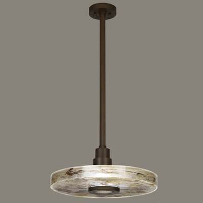 Crystal Bakehouse 1-Light Drum Pendant Finish: Bronze, Shade Color: Carnelian and Citrine