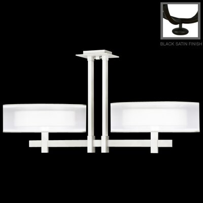 6-Light Semi Flush Mount Finish: Black Satin