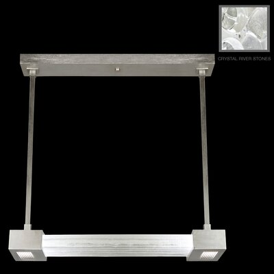 Crystal Bakehouse 2-Light Kitchen Island Pendant Finish: Silver Leaf