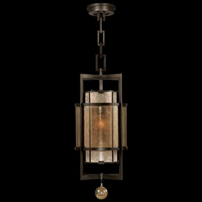 Singapore Moderne 1-Light Foyer Pendant Finish: Brown Patinated Bronze