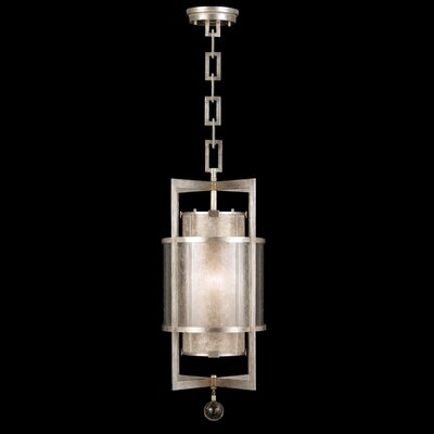 Singapore Moderne 1-Light Foyer Pendant Finish: Muted Silver Leaf