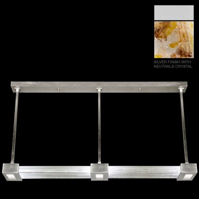 Crystal Bakehouse 3-Light Kitchen Island Pendant Finish: Silver, Shade Color: Carnelian and Citrine