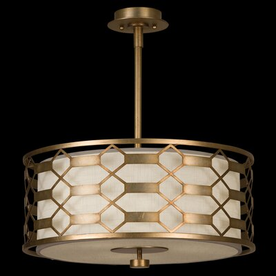 Allegretto 3-Light Drum Pendant Finish: Burnished Gold