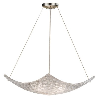 Constructivism 3-Light Bowl Pendant Finish: Silver, Shade Color: Moonlit Mist