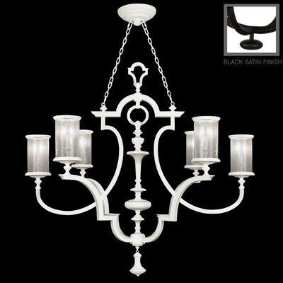 6-Light Candle-Style Chandelier Finish: Black Satin