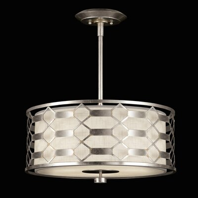 Allegretto 3-Light Drum Pendant Finish: Platinized Silver