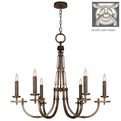 Liaison 6-Light Candle-Style Chandelier Finish: Platinized Silver