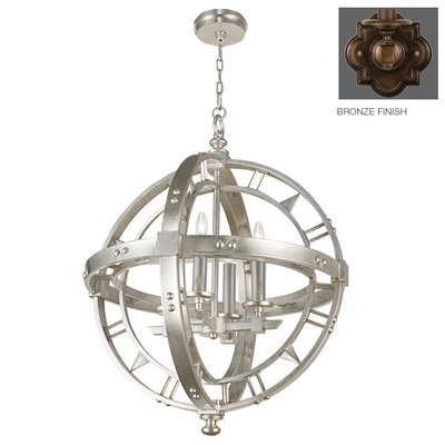 Liaison 4-Light Globe Pendant Finish: Antique Rubbed Bronze