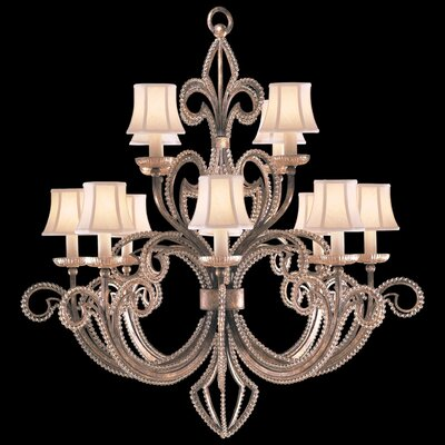 A Midsummer Nights Dream 12-Light Candle-Style Chandelier Finish: Gold