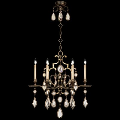 Encased Gems 6-Light Candle-Style Chandelier Crystal: Clear