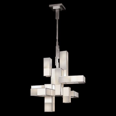 Perspectives 12-Light Shaded Chandelier Finish: Warm Muted Silver
