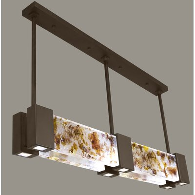 Crystal Bakehouse 6-Light Kitchen Island Pendant Finish: Bronze, Shade Color: Carnelian and Citrine
