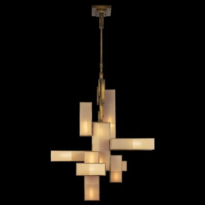 Perspectives 12-Light Candle-Style Chandelier Finish: Patinated Golden Bronze