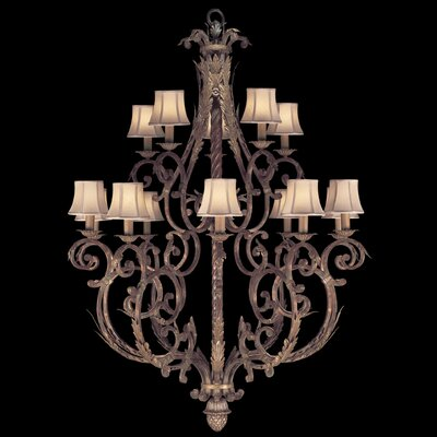 Stile Bellagio 15-Light Shaded Chandelier