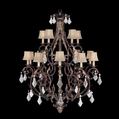 Stile Bellagio 15-Light Candle-Style Chandelier
