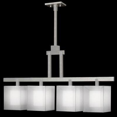 Quadralli 4-Light Kitchen Island Pendant Finish: Silver Leaf
