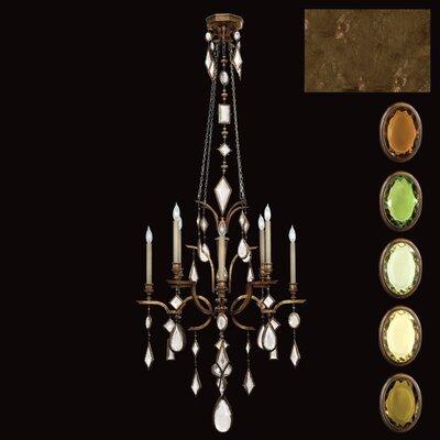 Encased Gems 8-Light Candle-Style Chandelier Crystal: Multicolor