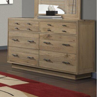 Hudson 6 Drawer Double Dresser Color: Sand
