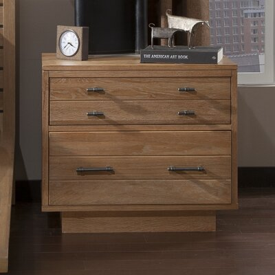 Hudson 2 Drawer Nightstand Finish: Sand