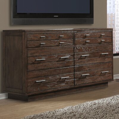Hudson 6 Drawer Double Dresser Color: Darker Tea