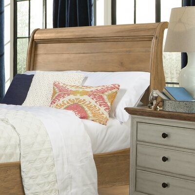 Cottage Sleigh Headboard Size: King