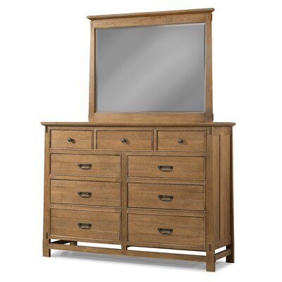 Huber 9 Drawer Double Dresser with Mirror