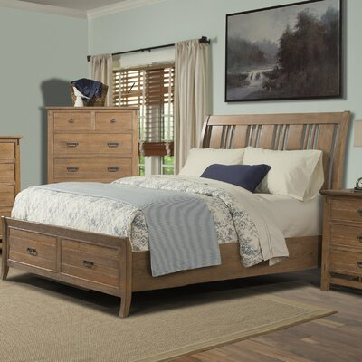 Huber Storage Sleigh Bed Size: King