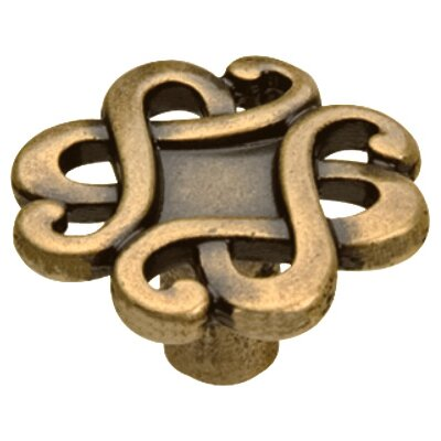 Capriccio Novelty Knob Size: 1.18 H x 1.18 W x 0.79 D, Finish: Dark Antique Brass
