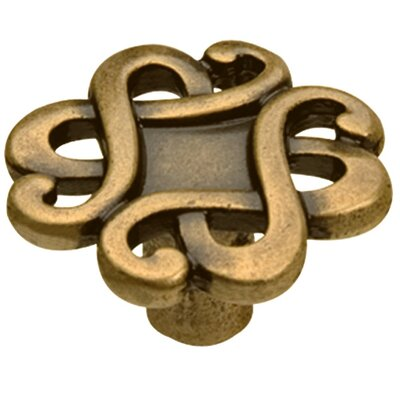 Capriccio Novelty Knob Size: 1.77 H x 1.77 W x 0.94 D, Finish: Dark Antique Brass