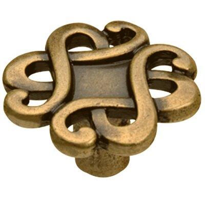 Capriccio Novelty Knob Size: 1.77 H x 1.77 W x 0.94 D, Finish: Dark Antique Brass