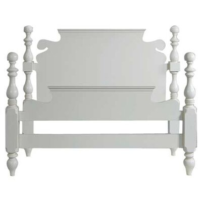 Parkland Panel Bed Size: King, Color: Pearl White