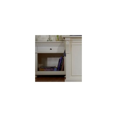 Parkland 1 Drawer Nightstand Color: Pearl White