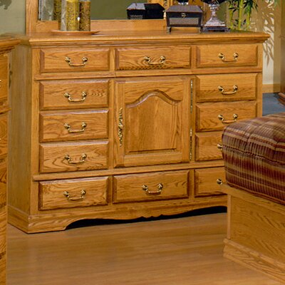 Lucie 12 Drawer Combo Dresser Color: Medium Wood