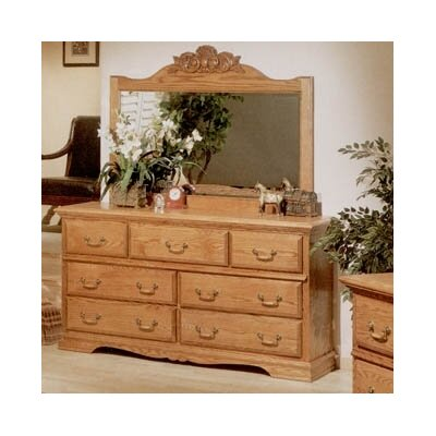 Lucie 7 Drawer Dresser with Mirror