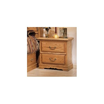 Lucie 2 Drawer Nightstand Color: Medium Wood