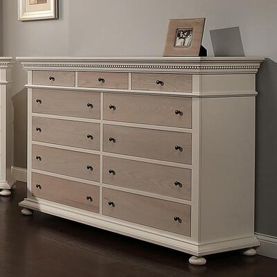 Parkland 11 Drawer Dresser Finish: French Gray