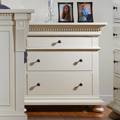 Parkland 3 Drawer Bachelor's Nightstand Color: Pearl White