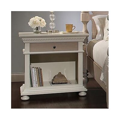 Parkland 3 Drawer Bachelor's Nightstand Color: French Gray