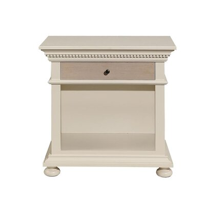 Parkland 1 Drawer Nightstand Color: French Gray