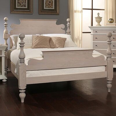 Parkland Panel Bed Size: King, Color: French Gray