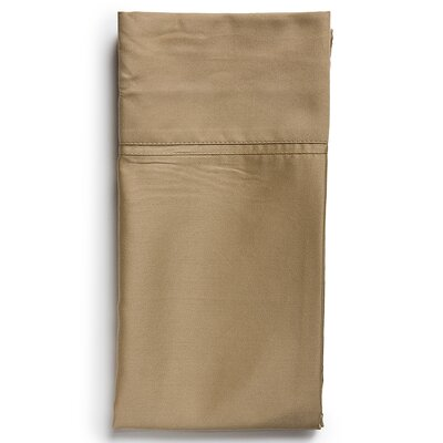 Sateen Sham Size: Standard, Color: Toffee