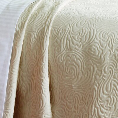 Caravelle Matelass� Season Bradbury Coverlet - Size: Queen, Color: White at Sears.com