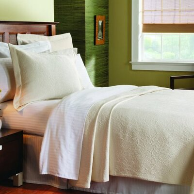 Caravelle Matelass� Season Brook Hill Coverlet - Size: Queen, Color: Ecru at Sears.com