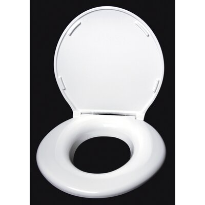 Closed Front Round Toilet Seat Finish: White Gloss