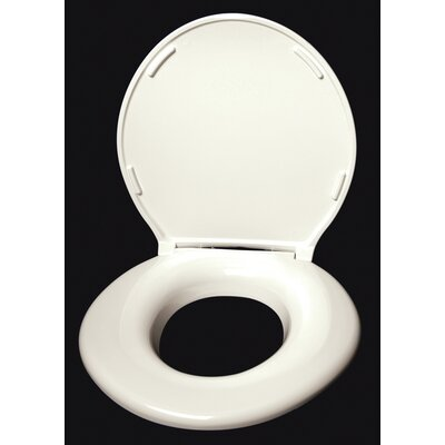 Closed Front Round Toilet Seat Finish: Cream Gloss