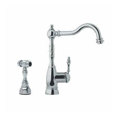 Farm House One Handle Single Hole Bar Faucet with Side Spray Finish: Satin Nickel