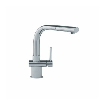 Single Handle Single Hole Kitchen Faucet with Stream Finish: Satin Nickel