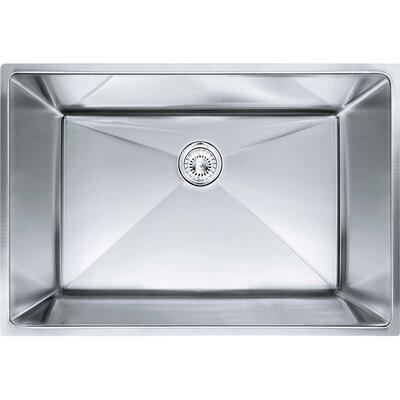 Planar 8 29.5 x 18.5 Undermount Stainless Steel Single Bowl Kitchen Sink