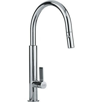 Evos Pull Down Single Handle Kitchen Faucet Finish: Polished Chrome