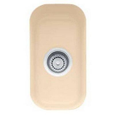 Cisterna 10.25 x 17.69 Undermount Kitchen Sink Finish: Biscuit